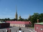 Во внутреннем дворе Петропавловской крепости